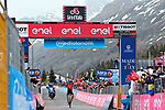 Damiano Caruso (ITA) Bahrain Victorious wins Stage 20 of the 2021 Giro d'Italia, running 164km from Verbania to Valle Spluga-Alpe Motta, Italy. 29th May 2021.  <br /> Picture: LaPresse/Gian Mattia D'Alberto   Cyclefile<br /> <br /> All photos usage must carry mandatory copyright credit (© Cyclefile   LaPresse/Gian Mattia D'Alberto)