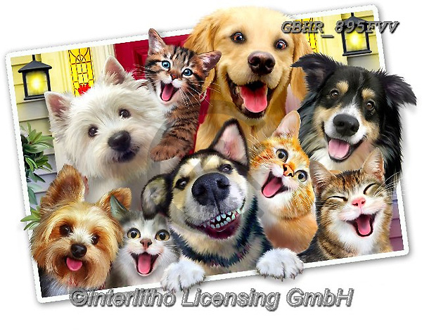 Howard, REALISTIC ANIMALS, REALISTISCHE TIERE, ANIMALES REALISTICOS, selfies,dogs,cats, paintings+++++,GBHR895FVV,#a#, EVERYDAY