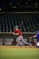 AZL Diamondbacks Buddy Kennedy (43) follows through on his swing against the AZL Cubs on August 11, 2017 at Sloan Park in Mesa, Arizona. AZL Cubs defeated the AZL Diamondbacks 7-3. (Zachary Lucy/Four Seam Images)