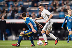 "Lucas Vazquez (r) of Real Madrid fights for the ball with Jonathan Castro Otto ""Jonny"" of RC Celta de Vigo during their Copa del Rey 2016-17 Quarter-final match between Real Madrid and Celta de Vigo at the Santiago Bernabéu Stadium on 18 January 2017 in Madrid, Spain. Photo by Diego Gonzalez Souto / Power Sport Images"