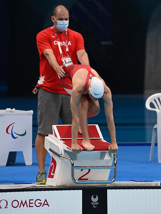 Sabrina Duchesne, Tokyo 2020 - Para Swimming // Paranatation.<br /> Sabrina Duchesne competes in the Women's 100m Freestyle - S7 // Sabrina Duchesne participe au 100m nage libre féminin - S7. 08/31/2021.