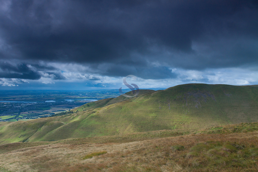 Wood Hill, The River Forth and the Forth Valley from The Law, the Ochil Hills, Tillicoultry, Clackmannanshire