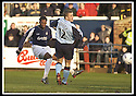 25/1/03       Copyright Pic : James Stewart                  .File Name : stewart-falkirk v hearts 02.COLLIN SAMUEL SCORES FALKIRK'S FIRST GOAL......James Stewart Photo Agency, 19 Carronlea Drive, Falkirk. FK2 8DN      Vat Reg No. 607 6932 25.Office : +44 (0)1324 570906     .Mobile : + 44 (0)7721 416997.Fax     :  +44 (0)1324 570906.E-mail : jim@jspa.co.uk.If you require further information then contact Jim Stewart on any of the numbers above.........