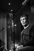 Thomas McCarthy, Irish Traveller, Folk Singer and Storyteller, sings at the launch of his second album, Herself and Myself, at the Old Queens Head pub, Islington.