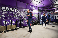 ORLANDO, FL - NOVEMBER 15: John Brooks #5 of the United States walks through the tunnel out to the field during a game between Canada and USMNT at Exploria Stadium on November 15, 2019 in Orlando, Florida.