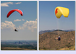 Paragliders taking off from Lookout Mountain, west of Golden, Colorado. .  John offers private photo tours in Denver, Boulder and throughout Colorado. Year-round Colorado photo tours.