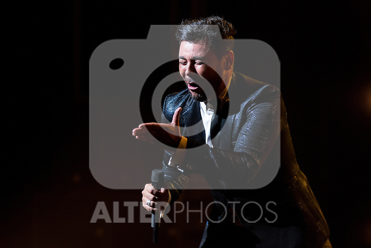 Spanish singer Poveda performs during a concert at Royal Theater in Madrid, Spain. July 23, 2015.<br />  (ALTERPHOTOS/BorjaB.Hojas)