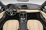 Stock photo of straight dashboard view of 2017 Mazda MX-5 Miata Grand Touring 2 Door Convertible Dashboard