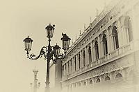An aged Venice scene.