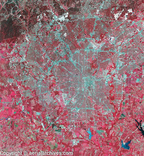 color infrared aerial photograph San Antonio Texas