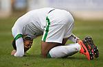 St Johnstone v Celtic.....14.02.15<br /> Virgil van Dijk goes down injured<br /> Picture by Graeme Hart.<br /> Copyright Perthshire Picture Agency<br /> Tel: 01738 623350  Mobile: 07990 594431
