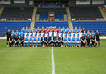 St Johnstone FC Season 2017-18 Photocall<br />Pictured back row from left, Blair Alston, Ally Gilchrist, Graham Cummins, Paul Paton, Liam Gordon, Ben MacKenzie, Alan Mannus, Zander Clark, Mark Hurst, Ross Sinclair, Jason Kerr, Joe Shuaghnessy, Liam Craig, Brian Easton, Murray Davidson and Alex Headrick Sports Scientist.<br />Middle row from left, Manny Fowler Kit Manager, Keith Watson, Chris Kane, Cameron Ballantyne, Euan O'Reilly, Ciaran Brian, Jamie Mackenzie, Daniel Jardine, Cameron Thomson, Ben Quigley, Jack Wilson, Shaun Struthers, John Robertson, Jamie Docherty, Alistair McCann, Cameron Lumsden, Callum Hendry, Kyle McLean, Scott Tanser and Mel Stewart Physio.<br />Front row from left, Paul Mathers GK Coach, Tony Tompos Head Physio, Alastair Stevenson Youth Dev Mananger, David Wotherspoon, Craig Thomson, Aaron Comrie, Stefan Scougall, Steven Anderson Captain, Callum Davidson Assistant Manager, Sreve Brown Chairman,Tommy Wright Manager, Alan Storrar Team Sponsor, Alex Cleland Coach, Chris Millar Vice Captain, Michael O'Halloran, Greg Hurst, Steven MacLean, Richie Foster, George Browning U20 GK Coach, Euan Peacock Chief Scout and <br />Picture by Graeme Hart.<br />Copyright Perthshire Picture Agency<br />Tel: 01738 623350  Mobile: 07990 594431