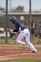 Seattle Mariners second baseman Luis Joseph (28) during a Minor League Spring Training game against the San Diego Padres at Peoria Sports Complex on March 24, 2018 in Peoria, Arizona. (Zachary Lucy/Four Seam Images)