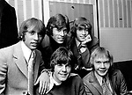 Bee Gees 1967 Maurice Gibb, Barry Gibb, Robin Gibb, Colin Petersen and Vince Melouney.© Chris Walter.
