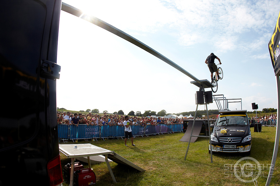 Martyn Ashton  at London Prepares Mountain Bike Olympic Test Event , Hadleigh Farm , Essex , July 2011 pic copyright Steve Behr / Stockfile