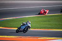 VALENCIA, SPAIN - NOVEMBER 8: Philipp Oettl during Valencia MotoGP 2015 at Ricardo Tormo Circuit on November 8, 2015 in Valencia, Spain
