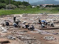Archäologische Ausgrabung in Gyeongju, Provinz Gyeongsangbuk-do, Südkorea, Asien, UNESCO-Weltkulturerbe<br /> archelogical excavation, Gyeongju,  province Gyeongsangbuk-do, South Korea, Asia, UNESCO world-heritage