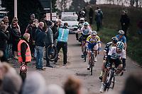 peloton passing by<br /> <br /> 81st Gent-Wevelgem in Flanders Fields (1.UWT)<br /> Deinze > Wevelgem (251km)