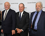 Barry Diller, Michael Bloomberg and Stephen Sondheim attend the Lincoln Center Honors Stephen Sondheim at the American Songbook Gala at Alice Tully Hall on June 19, 2019 in New York City.