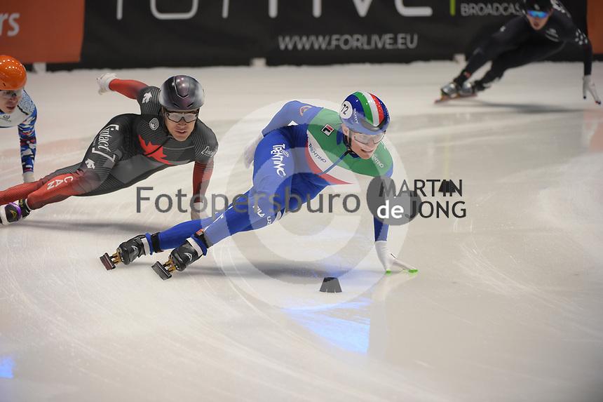 SPEEDSKATING: DORDRECHT: 06-03-2021, ISU World Short Track Speedskating Championships, SF 5000m Relay, (CAN), (ITA), ©photo Martin de Jong