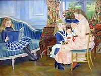 Children's afternoon at Wargemont - by Pierre Auguste Renoir, oil on canvas, 1884. French School, Berlin Alte Nationalgalerie