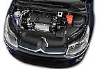 High angle engine detail of a 2010 Citroen C4 Millenium 5 Door Hatchback 2WD