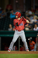 Peoria Chiefs second baseman Nick Dunn (38) at bat during a game against the Bowling Green Hot Rods on September 15, 2018 at Bowling Green Ballpark in Bowling Green, Kentucky.  Bowling Green defeated Peoria 6-1.  (Mike Janes/Four Seam Images)