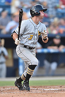 West Virginia Power right fielder Ryan Nagle (3) swings at a pitch during a game against the Asheville Tourists at McCormick Field on June 23, 2016 in , North Carolina. The Tourists defeated the Power 3-2. (Tony Farlow/Four Seam Images)