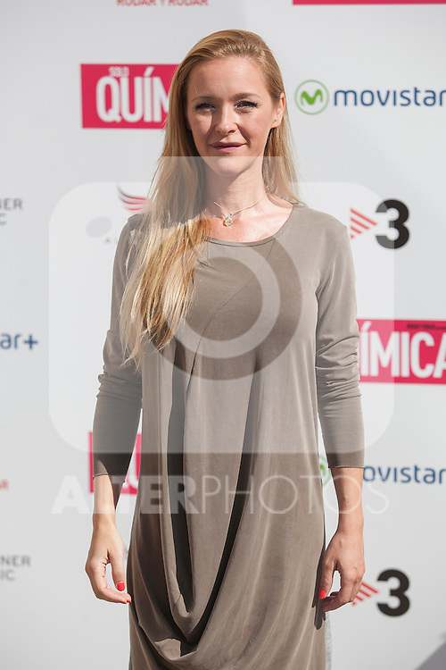 Maria Esteve poses during the `Solo quimica´ film presentation in Madrid, Spain. July 14, 2015. (ALTERPHOTOS/Victor Blanco)
