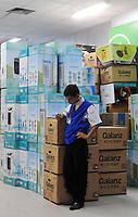 An electrical appliance store in Guangzhou, China. The financial crisis won't have too much impact on Chinese consuming market. According to a survey by Nielsen of 50 countries and regions, only 35 percent of Chinese people believed the domestic economy was in a contraction. The figure was the lowest among the 50 world markets..