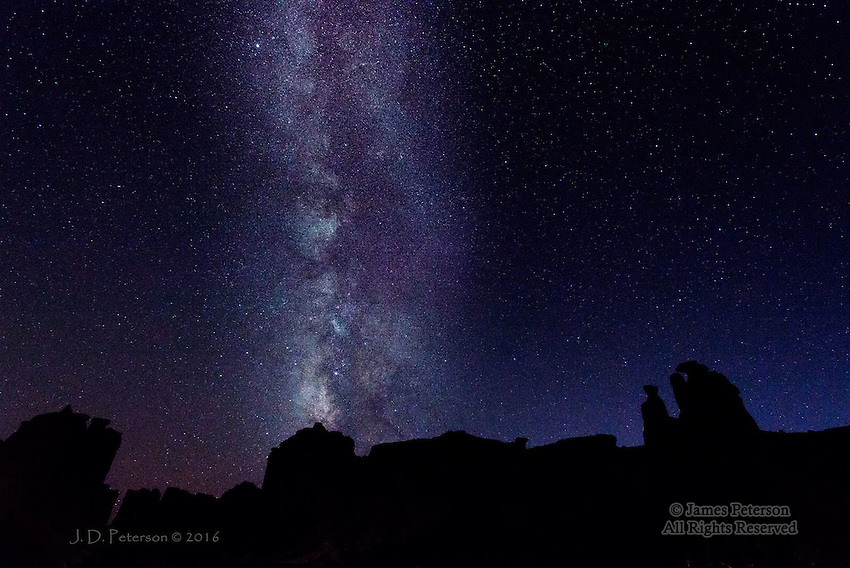 Milky Way over The Three Gossips, Utah