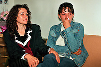 Sarajevo BIH.Esmia Kundor and Alida Kovacevic, some of the young women victims of rape during the ethnic war in the Balkans between 1992 and 1995. They are members of the association 'Women Victims of War' (Zena Zrtva Rata) in Sarajevo and fight for the dignity of women and justice..Photo Livio Senigalliesi.