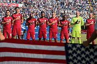 San Pedro Sula, Honduras. - Tuesday September 05, 2017: USMNT starting eleven during a 2017 FIFA World Cup Qualifying (WCQ) round match between the men's national teams of the United States (USA) and Honduras (HON) at Estadio Olímpico Metropolitano.
