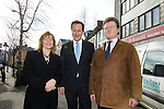 David Cameron, the Conservative Party leader with Conservative European Candidates. Kay Swinburne and Evan Price in Carmarthen today.