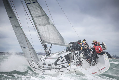 Simon Knowles' J109 Indian from Howth Yacht Club will compete in IRC One of the Sovereign's Cup Photo: Afloat