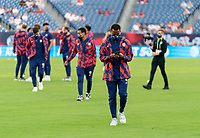 NASHVILLE, TN - SEPTEMBER 5: Kellyn Acosta #23 of the United States walks onto the field during a game between Canada and USMNT at Nissan Stadium on September 5, 2021 in Nashville, Tennessee.