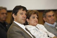 SAO PAULO,  26 DE JUNHO DE 2012. LULA NA FIESP. O candidato a prefeitura de Sao Paulo, Fernando Haddad, durante reunião de apresentação do Museu da democracia na Fiesp. FOTO: ADRIANA SPACA - BRAZIL PHOTO PRESS