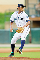 Starting pitcher Jessie Nava #47 of the Pulaski Mariners in action against the Greeneville Astros at Calfee Park August 29, 2010, in Pulaski, Virginia.  Photo by Brian Westerholt / Four Seam Images