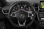 Car pictures of steering wheel view of a 2017 Mercedes Benz GLE-Coupe AMG-43 2 Door SUV Steering Wheel