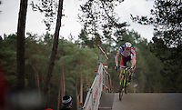 Laurens Sweeck (BEL/ERA-Murprotec) crossing the bridge<br /> <br /> 2016 Belgian National CX Championships