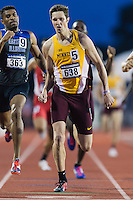 Mitch Hechsel of Minnesota and Ephraim Dorsey of Eastern Illinois compete in 800 meter prelims during West Preliminary Track and Field Championships, Friday, May 29, 2015 in Austin, Tex. (Mo Khursheed/TFV Media via AP Images)