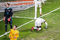 24th March 2021; Leuven, Belgium;  Romelu Lukaku  of Belgium frustrated at missing during the World Cup Qatar 2022 Qualifiers Match between Belgium and Wales on March 24, 2021 in Leuven, Belgium