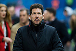 Atletico de Madrid's coach Diego Pablo Cholo Simeone during the match of Copa del Rey between Atletico de Madrid and Las Palmas, at Vicente Calderon Stadium,  Madrid, Spain. January 10, 2017. (ALTERPHOTOS/Rodrigo Jimenez)