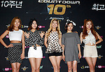 """LADIES' CODE, Jul 24, 2014 : South Korean girl group Ladies' Code, attend a photo call before the 10th anniversary live special of weekly music chart show, """"M! Countdown"""" of Mnet in Goyang, north of Seoul, South Korea. (Photo by Lee Jae-Won/AFLO) (SOUTH KOREA)"""
