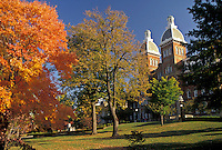 AJ3204, college, university, Pennsylvania, The campus of Washington and Jefferson College in the fall in Washington in the state of Pennsylvania.