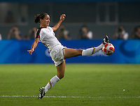 Stephanie Cox. The US lost to Norway, 2-0, during first round play at the 2008 Beijing Olympics in Qinhuangdao, China.