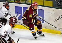 3 January 2009: Ferris State Bulldogs' defenseman Matt Case, a Junior from Plymouth, MN, in action against the Colgate Raiders during the consolation game of the 2009 Catamount Cup Ice Hockey Tournament hosted by the University of Vermont at Gutterson Fieldhouse in Burlington, Vermont. The two teams battled to a 3-3 draw, with the Bulldogs winning a post-game shootout 2-1, thus placing them third in the tournament...Mandatory Photo Credit: Ed Wolfstein Photo
