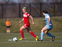 Lori Lindsey. The Washington Spirit defeated the North Carolina Tar Heels in a preseason exhibition, 2-0, at the Maryland SoccerPlex in Boyds, MD.