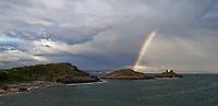 2019 06 06 Rainbow over Bracelet Bay, Swansea, UK