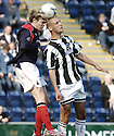 31/03/2007       Copyright Pic: James Stewart.File Name : sct_jspa03_falkirk_v_st_mirren.FALKIRK'S DARREN BARR AND BILLY MEHMET CHALLENGE FOR THE BALL....James Stewart Photo Agency 19 Carronlea Drive, Falkirk. FK2 8DN      Vat Reg No. 607 6932 25.Office     : +44 (0)1324 570906     .Mobile   : +44 (0)7721 416997.Fax         : +44 (0)1324 570906.E-mail  :  jim@jspa.co.uk.If you require further information then contact Jim Stewart on any of the numbers above.........